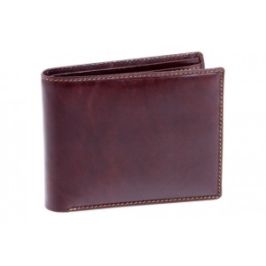 Visconti Italian Leather Wallet Mens - Brown MZ4